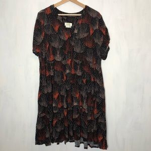 NEW Anthropologie Maeve Tania Tiered Tunic Dress
